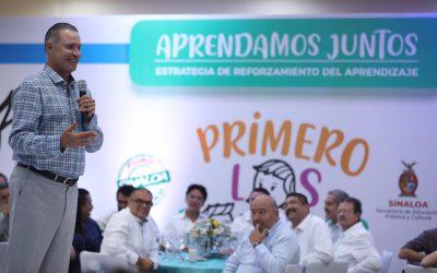 Con trabajo en equipo Sinaloa es hoy modelo educativo nacional: Quirino .