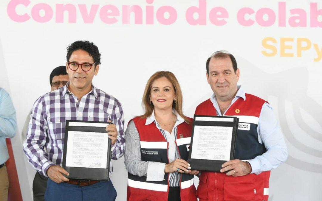 Tras convenio, Cruz Roja atenderá gratuita a niños de educación básica en emergencia: Juan Alfonso Mejía.