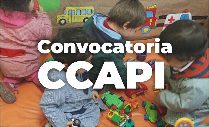 Convocatoria CCAPI (Centro Comunitarios de Atención a la Primera Infancia)