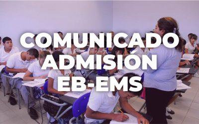 Elementos a considerar para el proceso de admisión para el ciclo escolar 2020-2021
