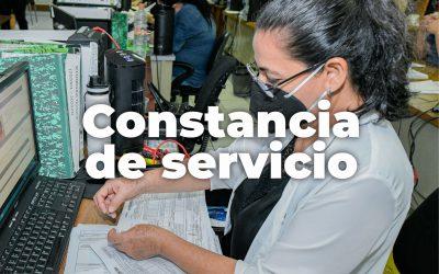 CONSTANCIAS DE SERVICIO