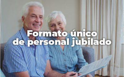FORMATO ÚNICO DE PERSONAL JUBILADO