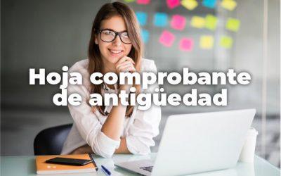 HOJA DE SERVICIO PARA COMPROBAR ANTIGÜEDAD
