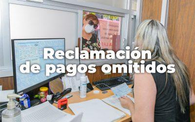 RECLAMACIÓN DE PAGOS OMITIDOS