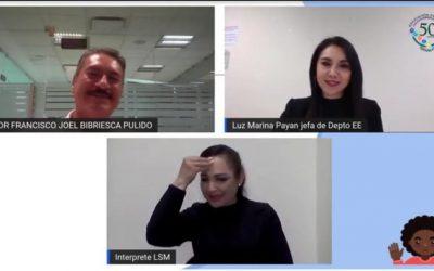 Inicia la SEPyC el tercer Seminario virtual de educación inclusiva en Sinaloa.