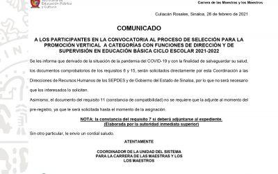 COMUNICADO PROMOCIÓN VERTICAL 2021-2022