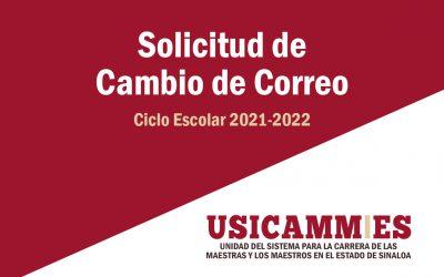 SOLICITUD DE CAMBIO DE CORREO ELECTRÓNICO_PROYECTO VENUS