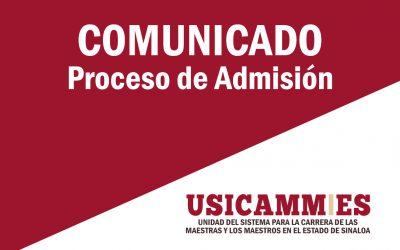 COMUNICADO PROCESO DE SELECCIÓN PARA LA ADMISION EN EDUCACION BASICA