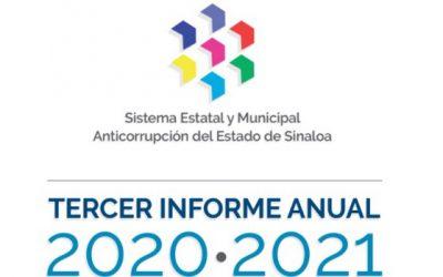 Tercer Informe Anual 2020-2021 del Comité Coordinador del Sistema Estatal y Municipal Anticorrupción del Estado de Sinaloa